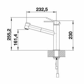 Blanco Ambis-S roestvrij staal geborsteld 523119