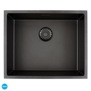 Caressi Zwarte spoelbak keuken CAGRPP50BK TU | Opbouw / onderbouw