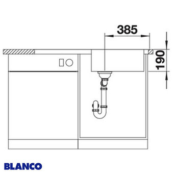 Spoelbak keuken BLANCO DINAS 6S XL - 524254