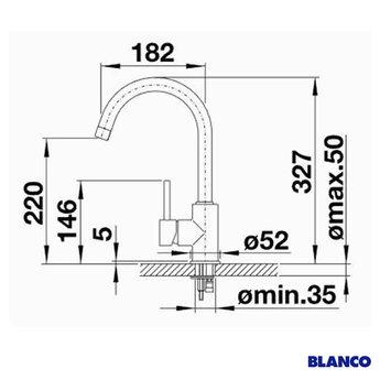 BLANCO Mida HD chroom 517742 - Eéngreepsmengkraan