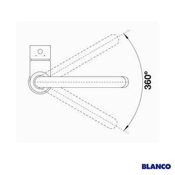 BLANCO Mida S HD chroom 521454 - Uittrekbare sproeikop.