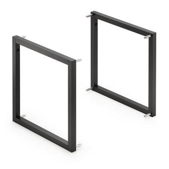 Wandsysteem One | Cubo, Basisframe | Mat zwart / RVS-look