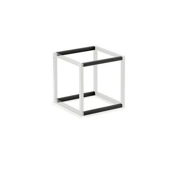 Wandsysteem One | Cubo, Verbindingsset 300 mm| Mat zwart / RVS-look