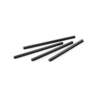 Wandsysteem One | Cubo, Verbindingsset 600 mm| Mat zwart / RVS-look