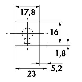 Wandsysteem One | Cubo, Verbindingsset 900 mm| Mat zwart / RVS-look