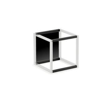 Wandsysteem One   Cubo, Achterwandset 300 mm  Mat zwart / RVS-look