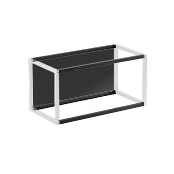 Wandsysteem One | Cubo, Achterwandset 600 mm| Mat zwart / RVS-look
