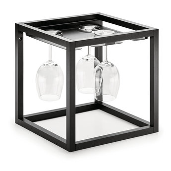 Wandsysteem One | Cubo, Glazenhouder 300 mm| Mat zwart / RVS-look