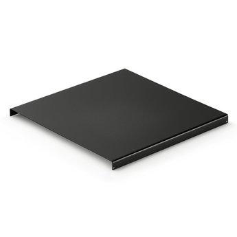 Wandsysteem One | Cubo, Inlegbodem 300 mm| Mat zwart / RVS-look
