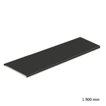 Wandsysteem One | Cubo, Inlegbodem 900 mm| Mat zwart / RVS-look