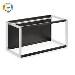 "Wandsysteem One | Cubo ""Achterwandset LED"" 600 mm"