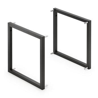 Wandsysteem One | Cubo, Complete set 300 mm| Mat zwart / RVS-look