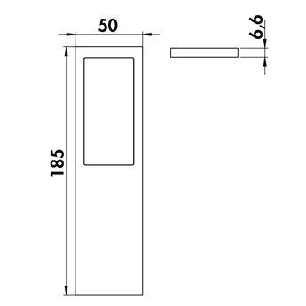 LED Keukenverlichting onderbouw Livello zwarte uitvoering-Set: 2 stuks.