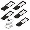 LED Keukenverlichting onderbouw Livello zwart - Set 5