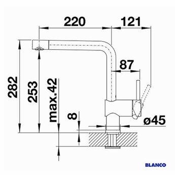 BLANCO Linus Mat zwart-525806 - Eéngreepsmengkraan