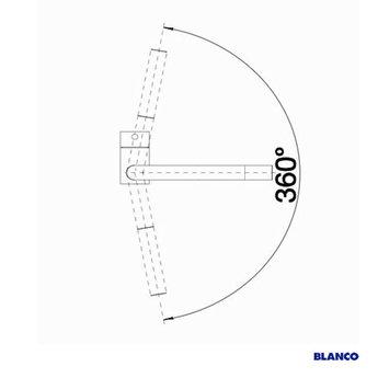 BLANCO Linus-S Mat zwart-525806 - Eéngreepsmengkraan-Uittrekbare uitloop