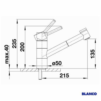 Blanco TIVO-S jasmijn - 517614 - Eéngreepsmengkraan-Uittrekbare uitloop