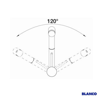 Blanco TIVO-S, Antraciet - 517610 - Eéngreepsmengkraan-Uittrekbare uitloop