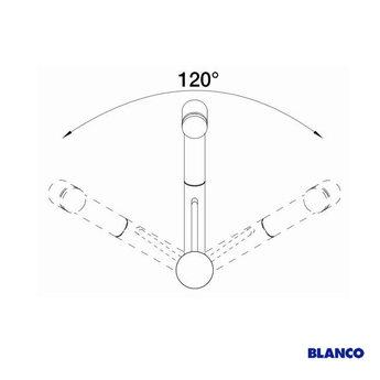 Blanco TIVO-S, Parelgrijs - 520755 - Eéngreepsmengkraan-Uittrekbare uitloop