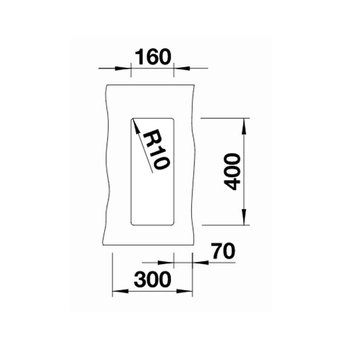 Zwarte Spoelbak Blanco SUBLINE 160U-525981-Black line - Onderbouw
