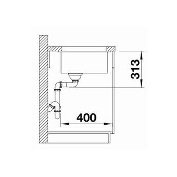 Zwarte Spoelbak Blanco SUBLINE 320U-525983-Black line - Onderbouw