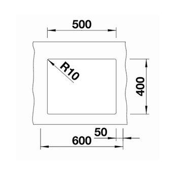 Zwarte Spoelbak Blanco SUBLINE 500U-525995-Black line - Onderbouw