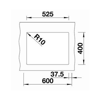 Zwarte Spoelbak Blanco SUBLINE 340/160U-525986-Black line - Onderbouw-Hoofdbak Rechts