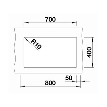 Zwarte Spoelbak Blanco SUBLINE 700U-526001-Black line - Onderbouw