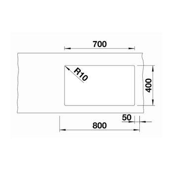 Zwarte Spoelbak Blanco SUBLINE 700U Level-526004-Black line - Onderbouw