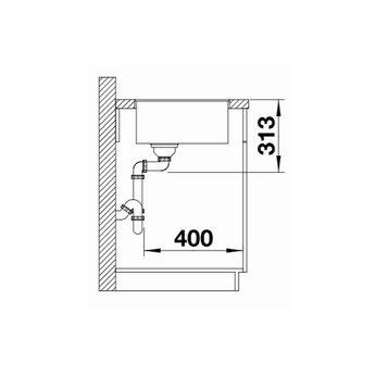 Zwarte Spoelbak Blanco SUBLINE 400F-525988-Black line - Vlakbouw