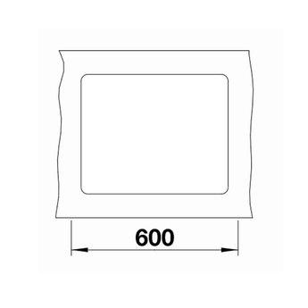 Zwarte Spoelbak Blanco SUBLINE 500F-525994-Black line - Vlakbouw