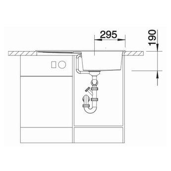 Zwarte Spoelbak Blanco METRA 5 S -525919-Black line