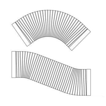 Flexibele Ronde buis afzuigkap SR-R flex Ø 150mm Compair Steel flow 500mm