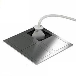 Stopcontact kookeiland RVS met USB aansluiting