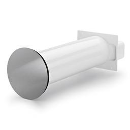 Naber Luchtafvoer Flow Star 125 F muurdoorvoer wit/Roestvrij staal
