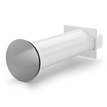 Naber Flow Star 125 F muurdoorvoerunit, wit/Roestvrij staal