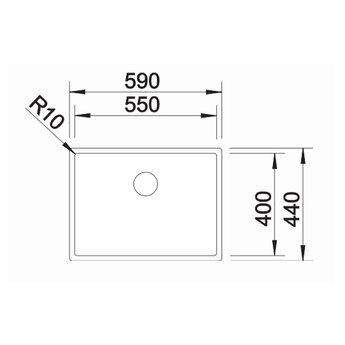 Blanco Spoelbak-CLARON 550-u onderbouw