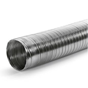 Flexibele afvoerbuis rond Ø 152mm wit, L 3000 mm. Aluminium