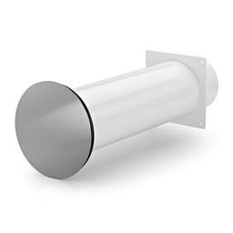 Naber Luchtafvoer Flow Star 125 muurdoorvoer wit/Roestvrij staal