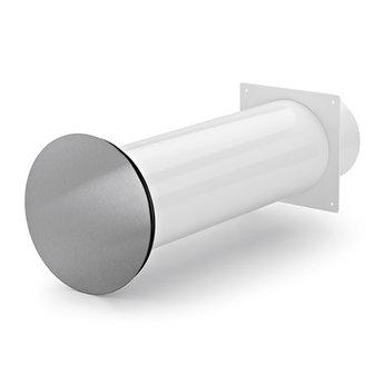 Naber Flow Star 125 muurdoorvoerunit, wit/Roestvrij staal
