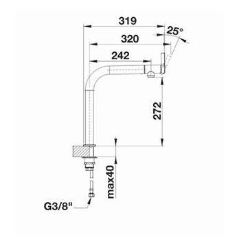 Blanco Keukenkraan BLANCO VONDA RVS Geborsteld - 5184345
