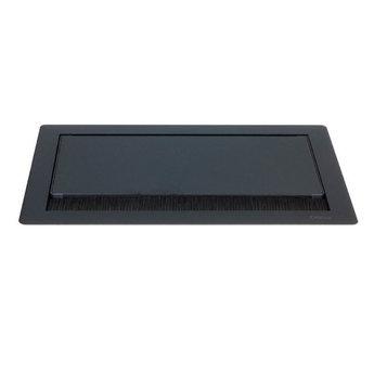 Evoline Flip Top Push | Mat zwart 4-voudig stopcontact