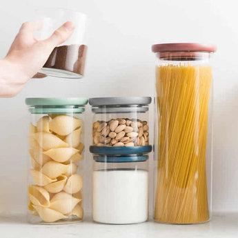 BergHOFF Leo Line pasta bewaardoos 1,9L met slimme dispenser - Leo