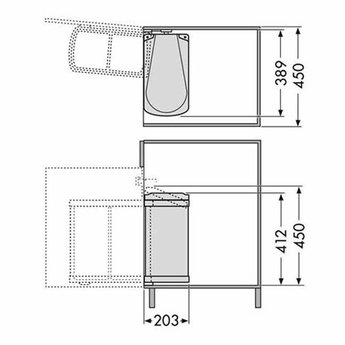 Hailo Hailo Uno-Automatic - 18 liter Afvalemmer wit | 3418001