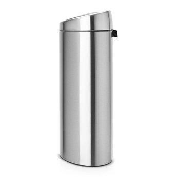 Brabantia Prullenbak 40 Liter.Touch Bin 40 Liter Afvalemmer Matt Steel Fingerprint Proof