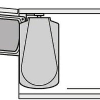 Hailo HAILO DUO-AUTOMATIC 16 LITER AFVALEMMER.Rvs/zwart