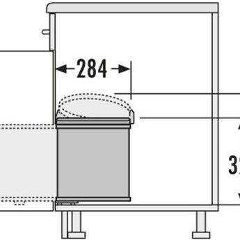 Hailo HAILO BIG-BOX 15 LITER AFVALEMMER.