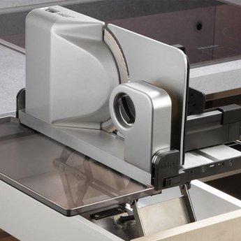 Naber Ritter Universele snijmachine-3 Type AES 52, metalen kast zilvermetallic.