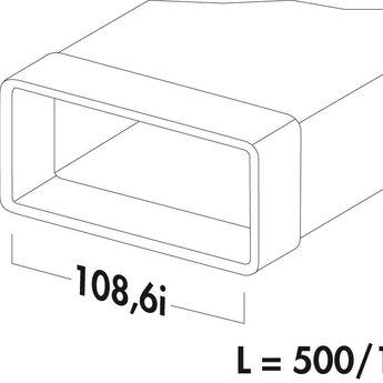 Naber N-VRM 100 Luchtafvoerbuis met mof, wit, 500mm