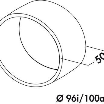 Naber N-VBS 100 Buisverbinding, wit